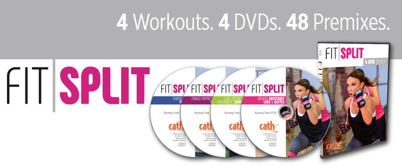 Cathe Friedrich Fit Split Workout DVD Series for Women and men