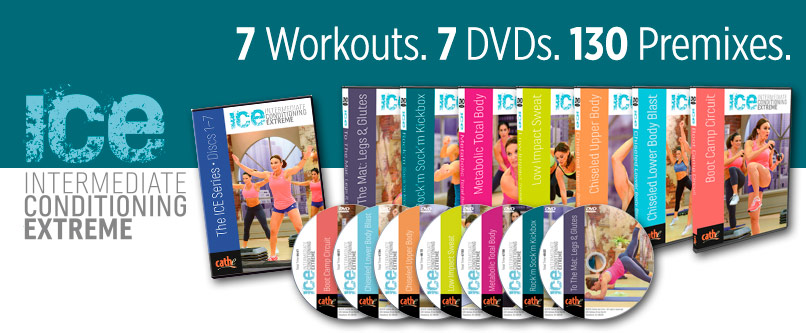 Cathe Friedrich intermediate Exercise DVDs. Low Impact workout DVDs for intermediate exercisers - bootcamp, metabolic, kickboxing, cardio, hiit, lower body and upper body workout DVDs