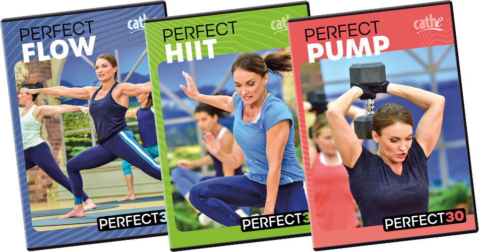 Order Cathe Friedrich's New Perfect30 Workout Videos for women and men