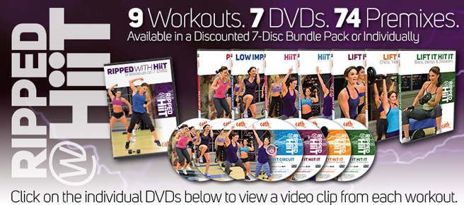 Cathe Friedrich's hiit DVD workouts for women and men